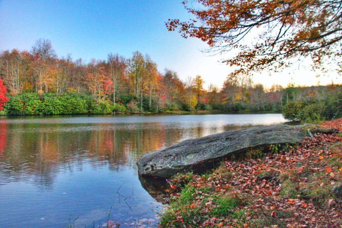 """Fall Afternoon at Price Lake"" by Angie Houston"
