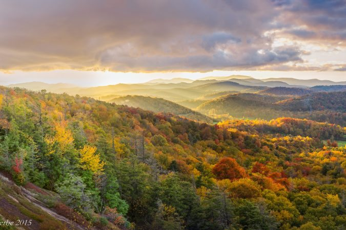 """Flat Rock Overlook near Grandfather Mountain"" by Craig Zerbe"