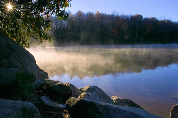 Mist over Price Lake