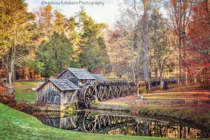 """Autumn Colors at Mabry Mill, Milepost 176"" by Melissa Kniskern Photography"
