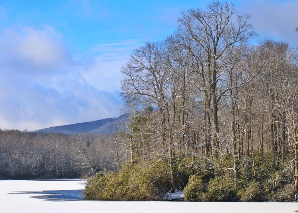 """Price Lake in Snow"" by Angie Houston"