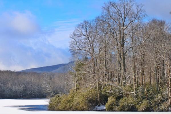 Price Lake in Snow