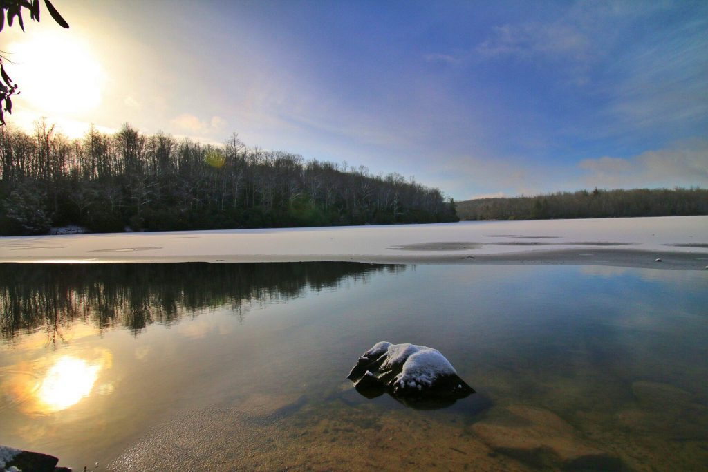 """""""Snowy Price Lake at Sunrise"""" by Angie Houston"""