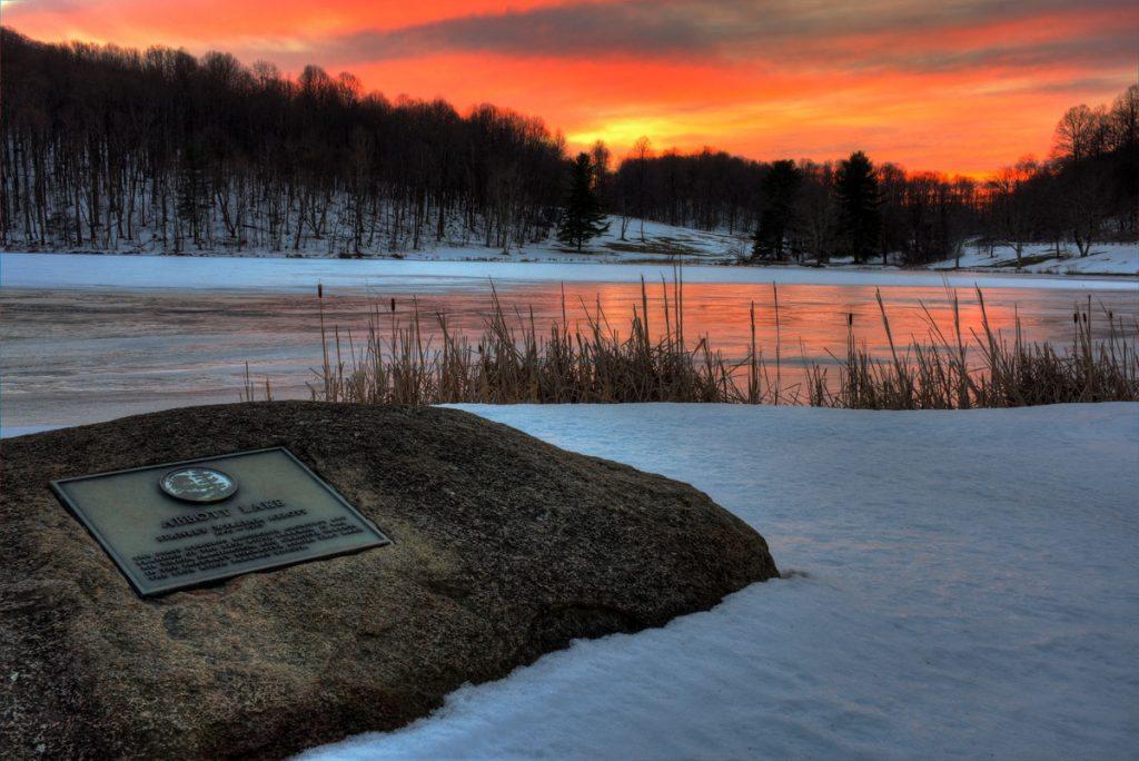 """""""Snow at Abbott Lake, Milepost 86"""" by Steve Hurt"""