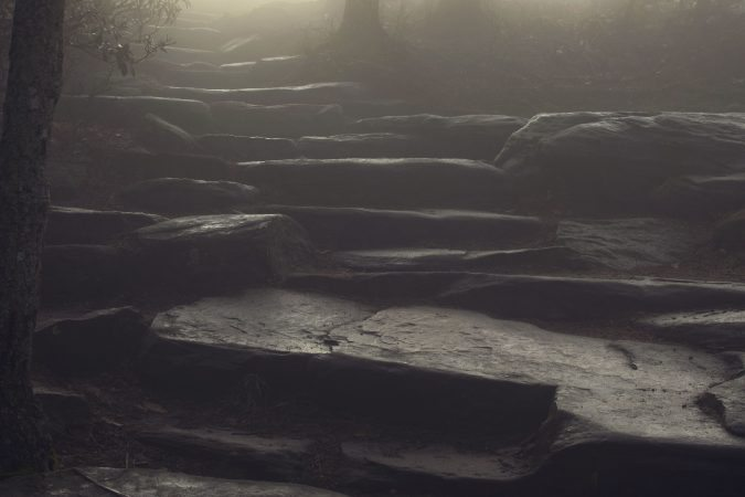 """""""Foggy Trails at Pilot Mountain"""" by Tootsie Ann Photography"""