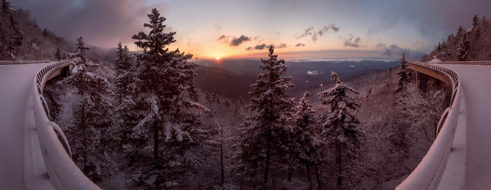 """""""Linn Cove Viaduct Panorama"""" by Tommy White Photography"""