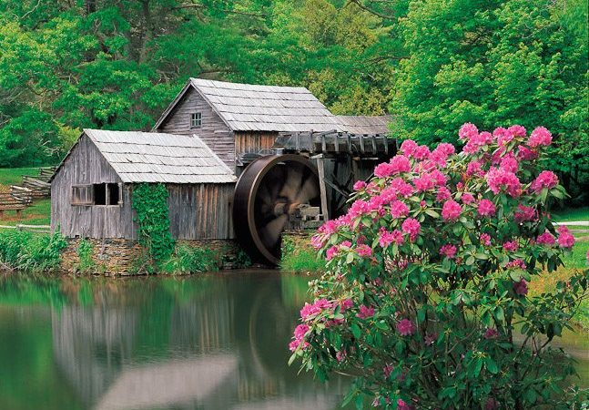 """Changing Seasons at Mabry Mill, Milepost 176.1"" by J. Scott Graham"