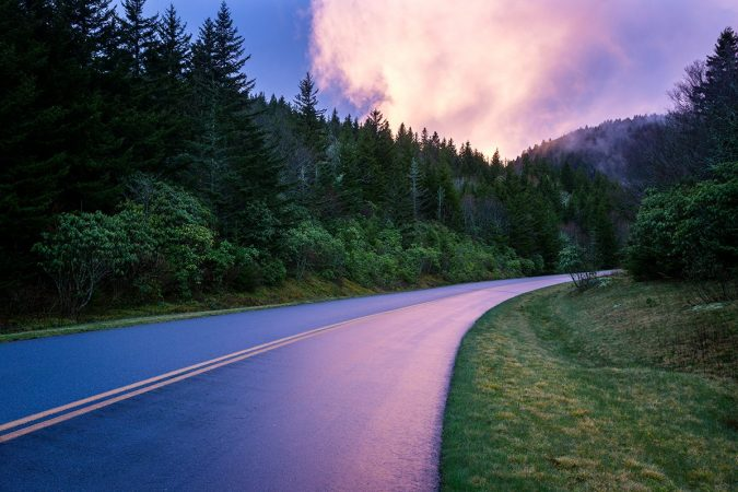 """Parkway at Dusk, Milepost 423"" by Dawnfire Photography"
