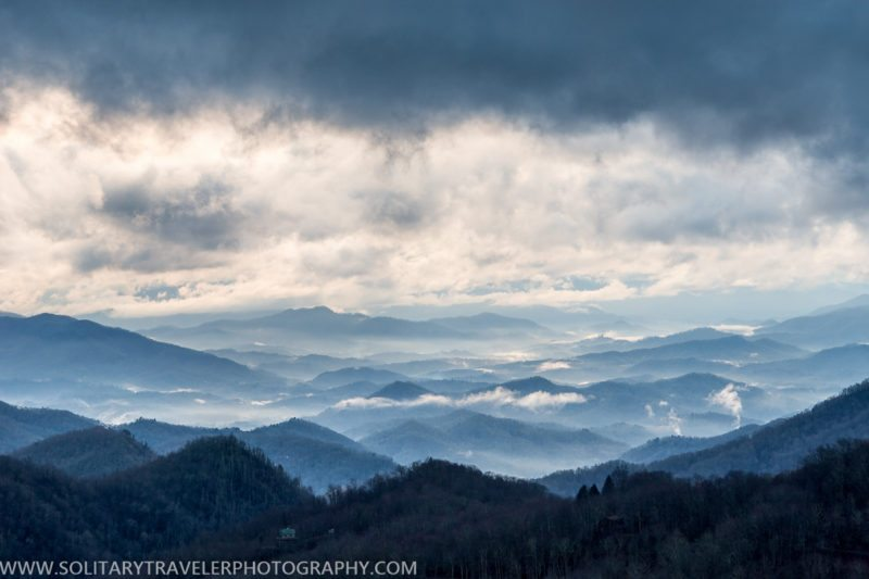 """Clouds Pool at Thunderstruck Ridge Overlook, Milepost 455"" by Solitary Traveler Photography"