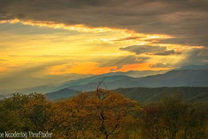 """""""Sunrays over the Smokies near Milepost 458.2"""" by The Wandering Viewfinder"""