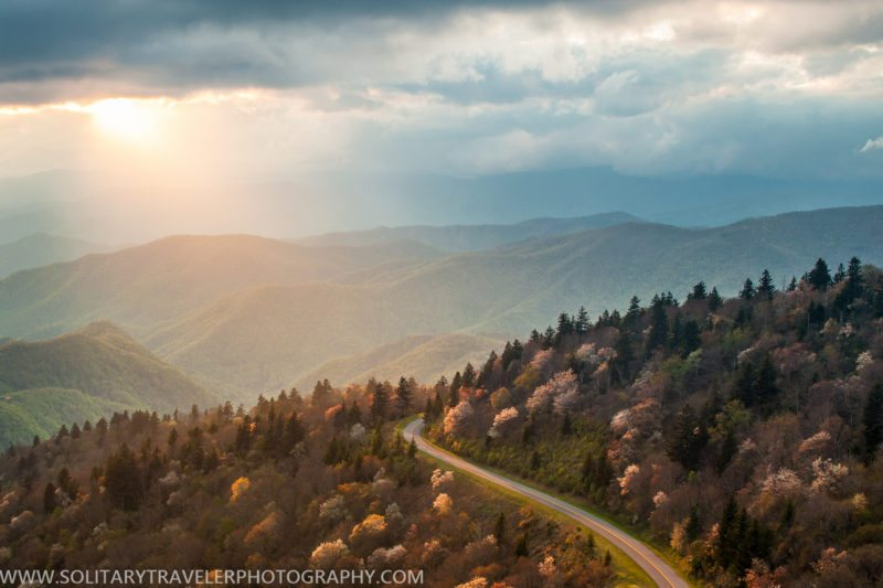 """""""Parkway View from Waterrock Knob, Milepost 451"""" by Solitary Traveler Photography"""
