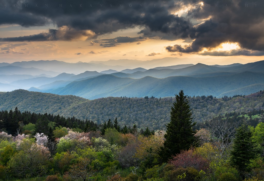 """Spring at Cowee Mountains Overlook, Milepost 430.7"" by Johan Hakansson Photography"