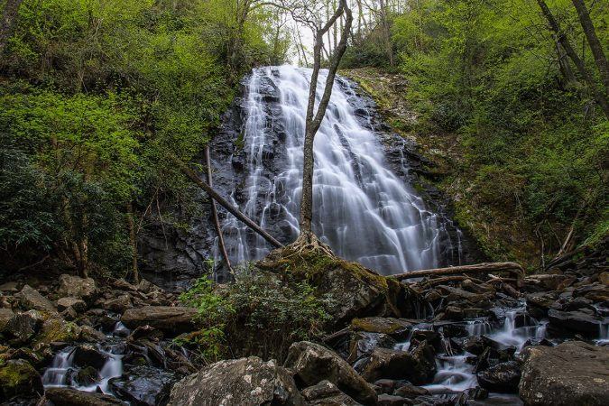 """Crabtree Falls, Milepost 339.5"" by HD Carolina"