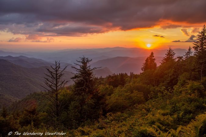 """""""Sunrise on the Mountains to Sea Trail near Milepost 450"""" by The Wandering Viewfinder"""