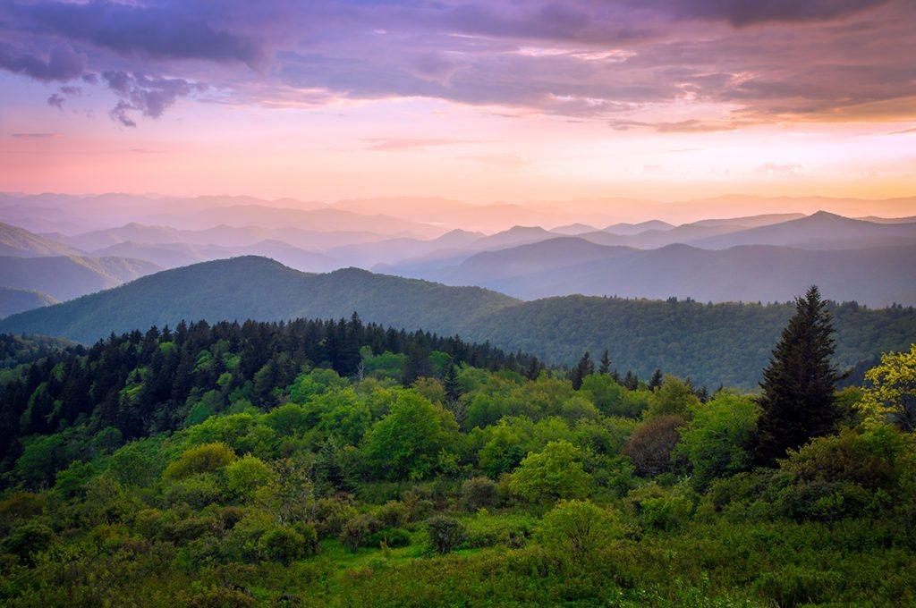 """""""Cowee Mountain Overlook, Milepost 430.7"""" by Dawnfire Photography"""
