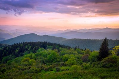 """Cowee Mountain Overlook, Milepost 430.7"" by Dawnfire Photography"