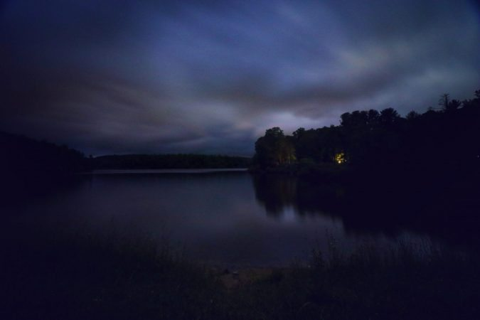 """Nightfall over Price Lake, Milepost 296.7"" by Angie Houston"