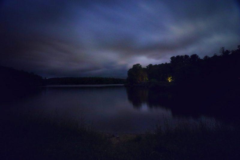 """Nightfall over Price Lake, Milepost 296.7"" by Angie Houston"