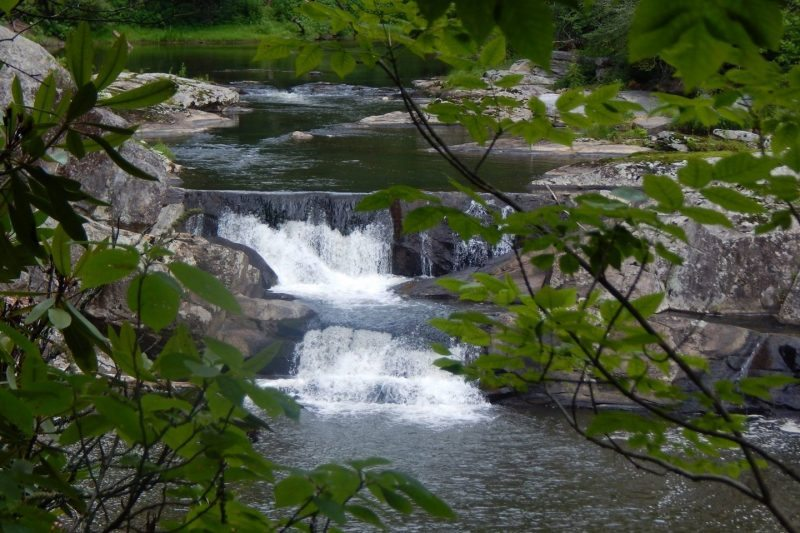 """""""Cascades at Linville Falls, Milepost 316.4"""" by Pamela S. Flowers"""