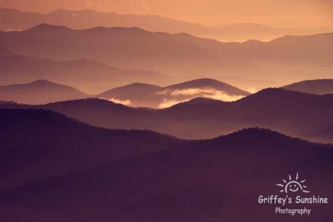 """Cowee Mountains Overlook, Milepost 430.7"" by Griffey's Sunshine Photography"
