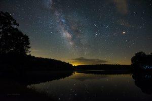 """Milky Way over Price Lake, Milepost 296.7"" by Jason Marshburn"