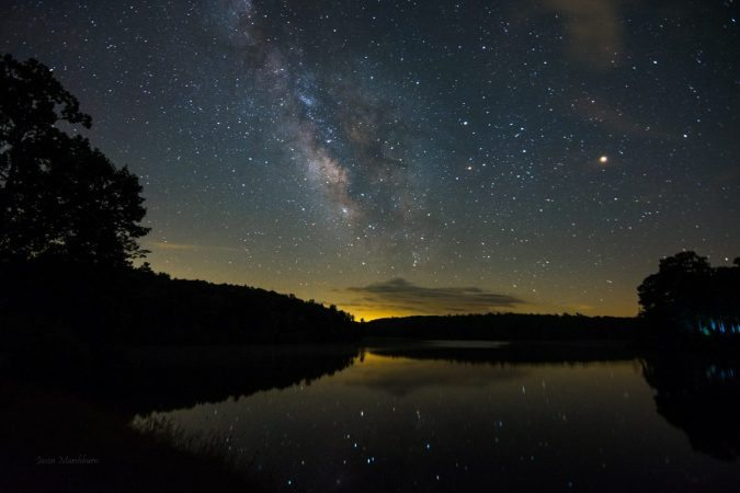 """Milky Way over Price Lake, Milepost 296.7"" by Jason Marshburn"