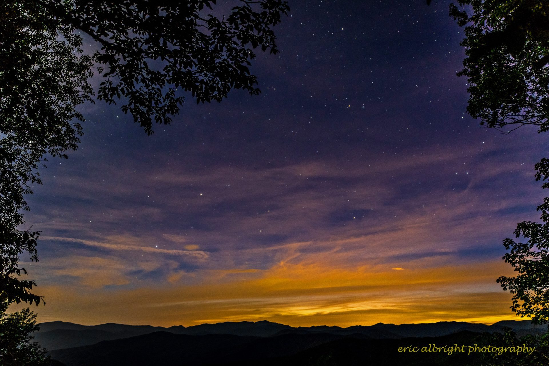 Stars At The Balsam Mountain Picnic Area By Eric Albright