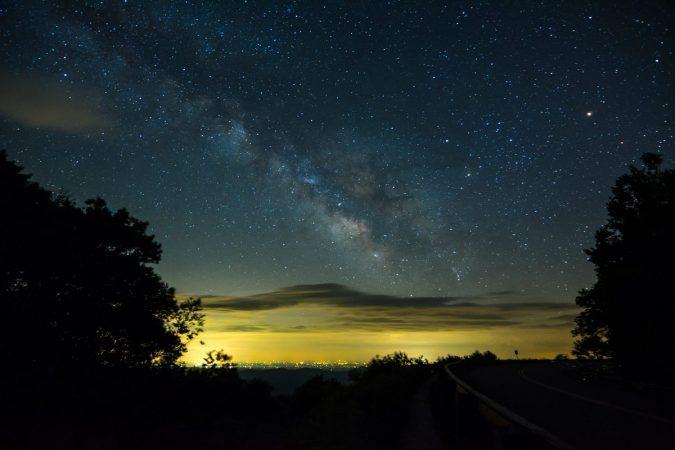"""Stars over Yonahlossee Overlook, Milepost 303.9"" by Jason Marshburn"