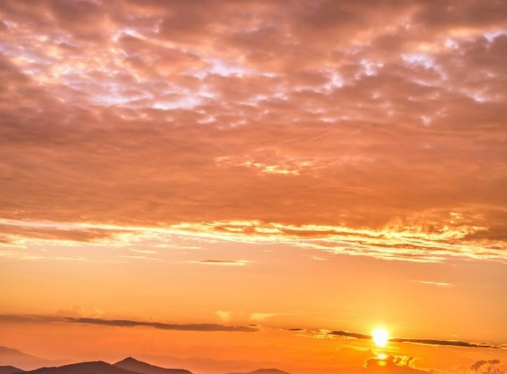 """""""Sunset at Cowee Mountains Overlook"""" by Griffey's Sunshine Photography"""