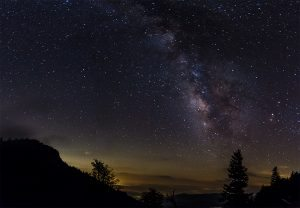 """""""Night Sky at Devil's Courthouse Overlook, Milepost 422.4"""" by Nicholas Holshouser"""