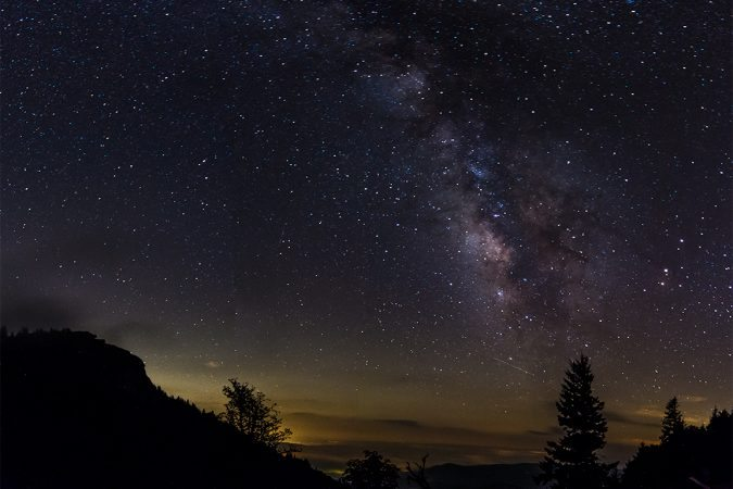 """Night Sky at Devil's Courthouse Overlook, Milepost 422.4"" by Nicholas Holshouser"