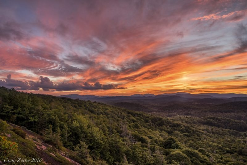 """Sunset at Flat Rock Overlook, Milepost 308.3"" by Craig Zerbe"