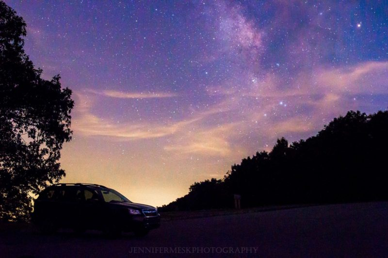 """Stars at Mills River Valley Overlook, Milepost 404.5"" by Jennifer Mesk Photography"