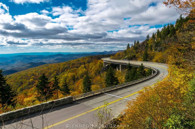 """Autumn at the Linn Cove Viaduct, Milepost 304"" by Glennboi Photography"