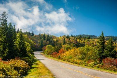 """Blue Ridge Parkway Milepost 419, near Graveyard Fields"" by Solitary Traveler Photography"
