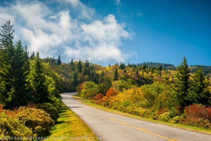 """Blue Ridge Parkway Milepost 419, near Graveyard Fields"" by Solitary Traveler Photography"