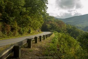 """""""Early Fall Color at Milepost 373 near Asheville, NC"""" by Jennifer Mesk Photography"""