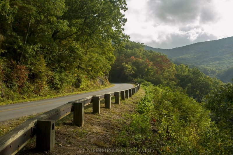 """Early Fall Color at Milepost 373 near Asheville, NC"" by Jennifer Mesk Photography"
