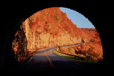 """Exiting Craggy Flats Tunnel, Milepost 364.4"" by J. Scott Graham"
