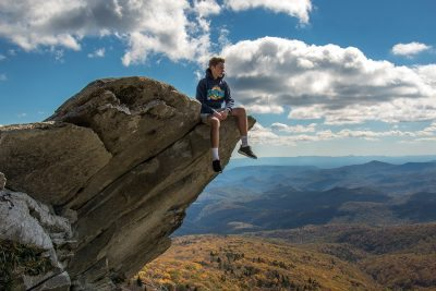 """Hiker on the Rough Ridge Trail, Milepost 302.8"" by HD Carolina"