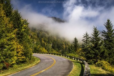 """Rising Fog on the Parkway, Milepost 420"" by Jennifer Mesk Photography"