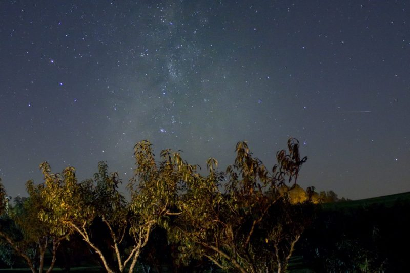 """""""Stars over Fancy Gap Cabins & Campground, Milepost 202.5"""" by Leiane Gibson"""