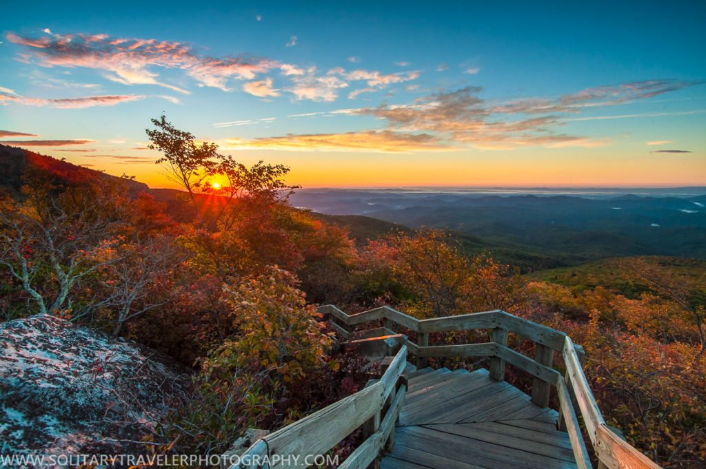 """Sunrise at Rough Ridge, Milepost 302.8"" by Solitary Traveler Photography"