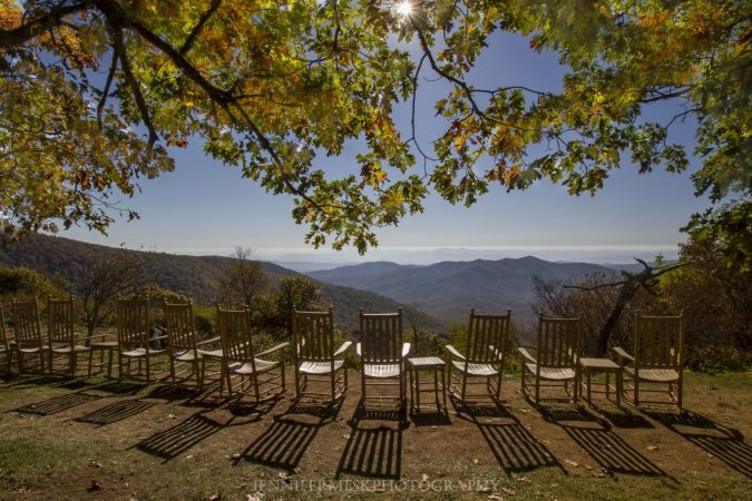 """View from Pisgah Inn, Milepost 408.6"" by Jennifer Mesk Photography"