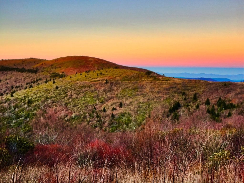 """Sunset near Shining Rock, Milepost 420"" by Christina M. Moore"