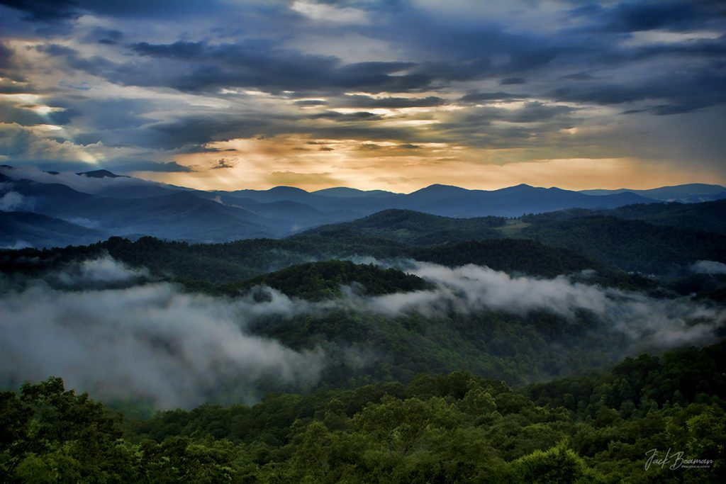 """Blue Ridge Parkway near Black Mountains Overlook"" by Jack Beaman Photography"