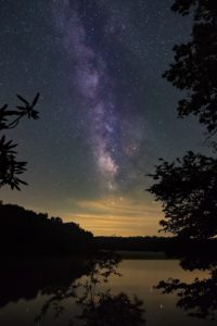 """""""Milky Way over Price Lake, Milepost 296.7"""" by Christopher Spicer"""