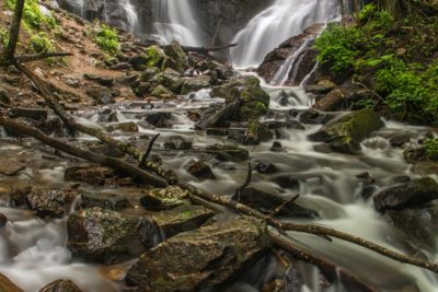 """Summer at Soco Falls, Milepost 455.7"" by HD Carolina"