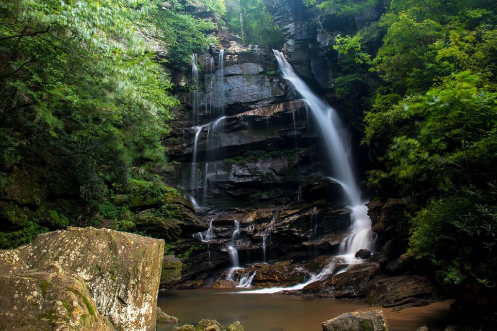 """Big Bradley Falls in the Green River Gamelands"" by HD Carolina"