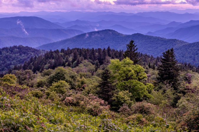 """Cowee Mountains Overlook, Milepost 430.7"" by Danny Wilson"